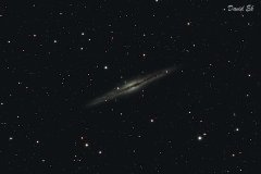 The Silver Sliver Galaxy (NGC891) Close-up