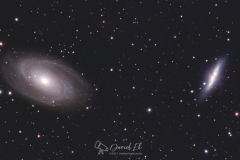 Bode's Galaxy and the Cigar Galaxy (M81 and M82)