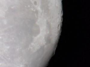 The moon through the eyepiece of my Celestron NexStar 6SE